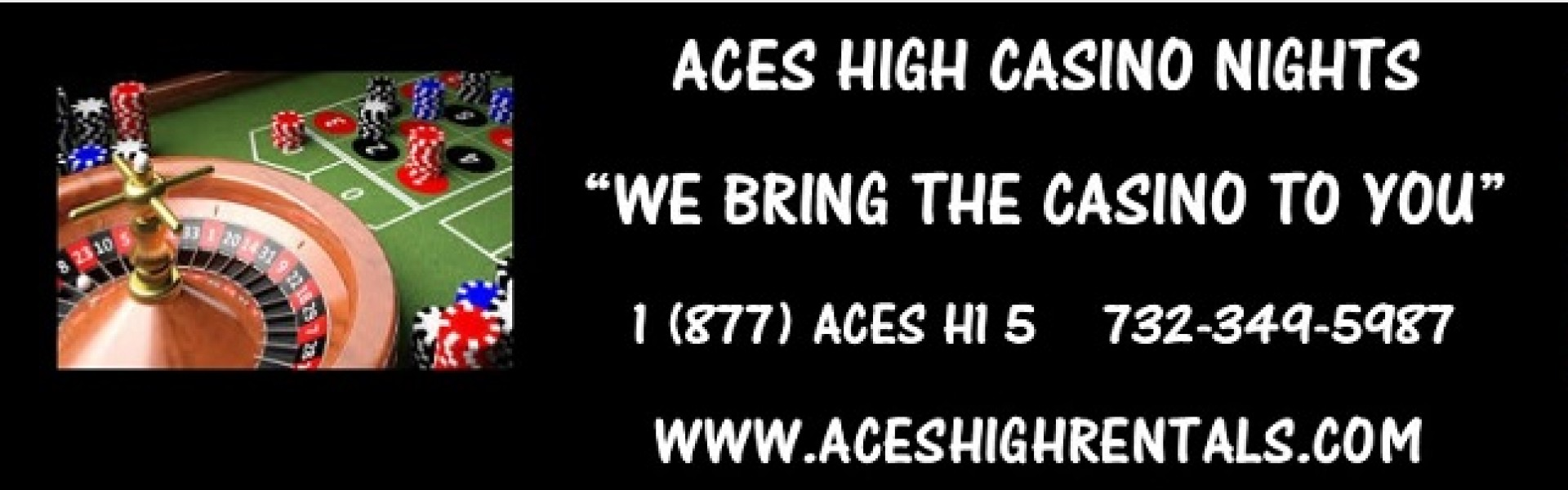 Aces High Casino Rentals Logo